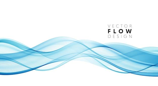 Lignes de vagues fluides colorées abstraites vectorielles isolées sur l'élément de conception de fond blanc pour mariage ...