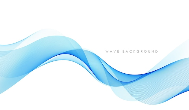 Lignes De Vagues Fluides Colorées Abstraites Vectorielles Isolées Sur L'élément De Conception De Fond Blanc Pour La Technolo... Vecteur Premium