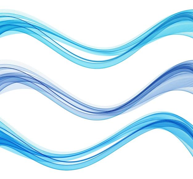 Lignes de vagues fluides colorées abstraites vectorielles isolées sur l'élément de conception de fond blanc pour la technolo...