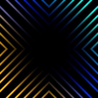 Lignes vibrantes sur le vecteur de fond noir
