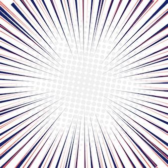 Lignes de vitesse radiale fond de mouvement rapide