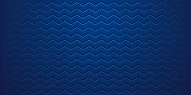 Lignes en zigzag modernes sur fond bleu foncé. conception de texture dentelée.