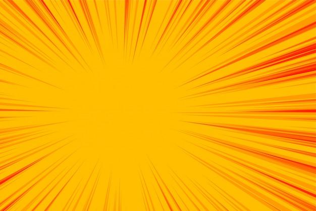 Lignes de zoom jaune abstrait fond vide
