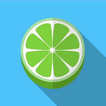 Lime plate icône illustration isolé vecteur signe symbole