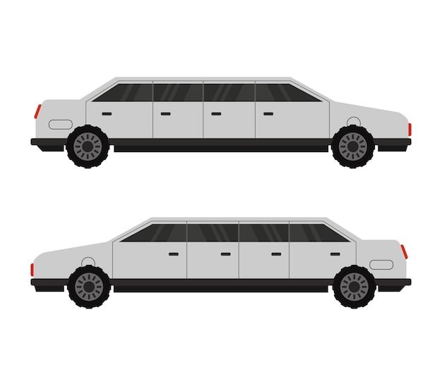 Limousine sur blanc