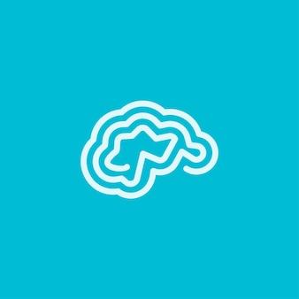 Line brain logo