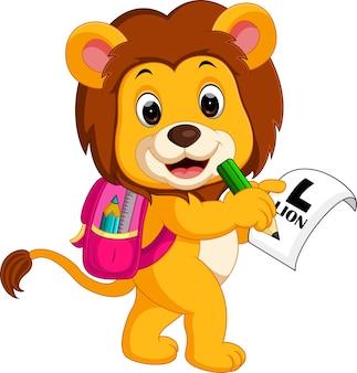 Lion aller à l'école