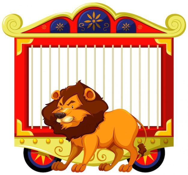 Lion et cage de carnaval