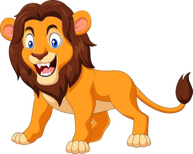Lion en colère de dessin animé