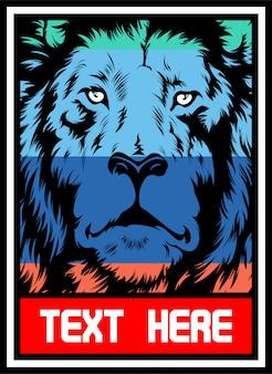 Lion en couleur.