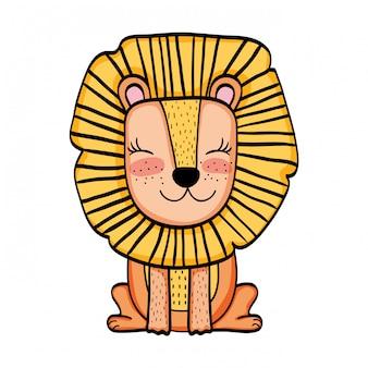 Lion dessin animé animal sauvage