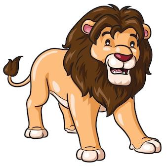 Lion dessin animé mignon