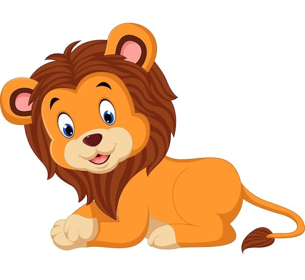 Lion de dessin animé mignon