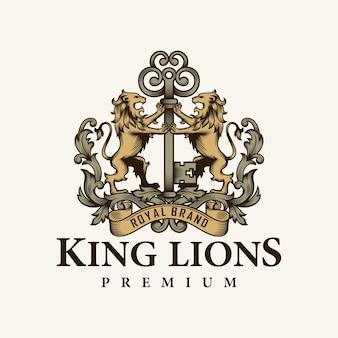 Lion héraldique et logo clé