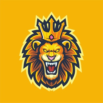 Lion king logo conception de mascotte de jeu esport