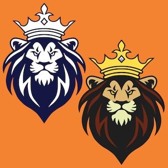 Lion logo set vector illustration design mascot