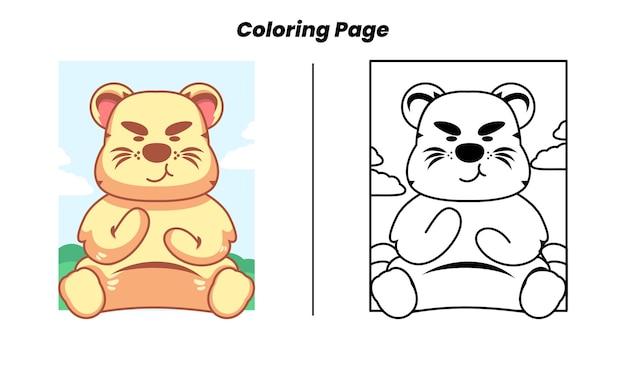 Lion mignon avec des pages à colorier