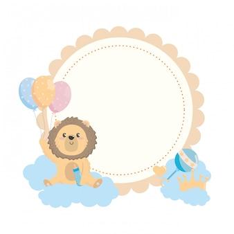 Lion et symbole de la fête de naissance