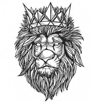 Lion de tatouage