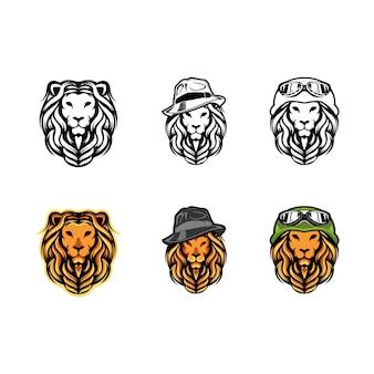 Lion de tête avec bonnet