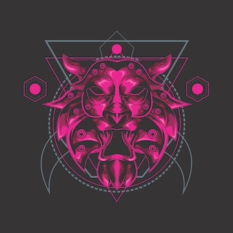 Lion ultime géométrie sacrée