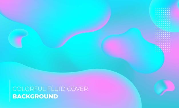Liquide cyan coloré bleu et magenta idéal pour le fond ou l'affiche