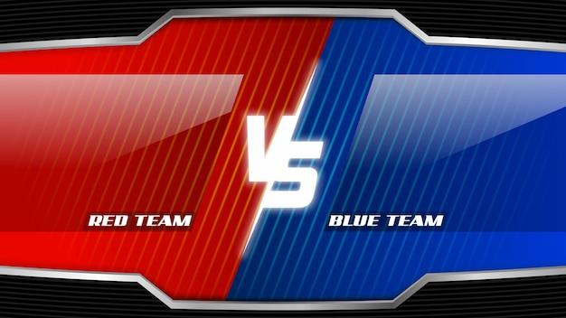Lire l'équipe vs l'équipe bleue esports screen