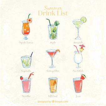 Liste des boissons mignon