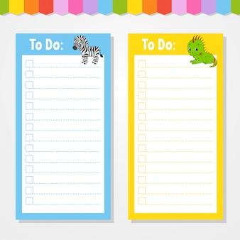 Liste de choses à faire pour les enfants