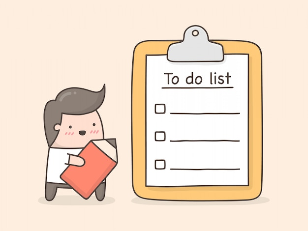 Liste de choses à faire.