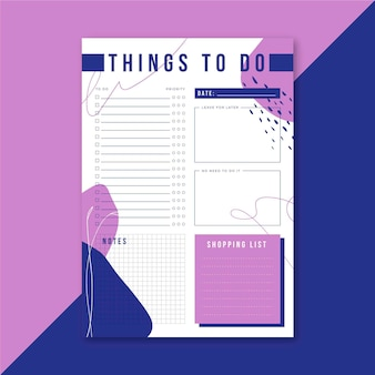 Liste de choses à faire