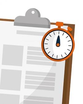 Liste de contrôle et chronomètre