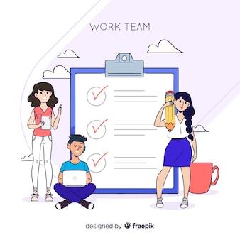 Liste de contrôle de l'équipe de travail