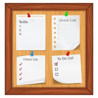 Liste de contrôle et liste de tâches