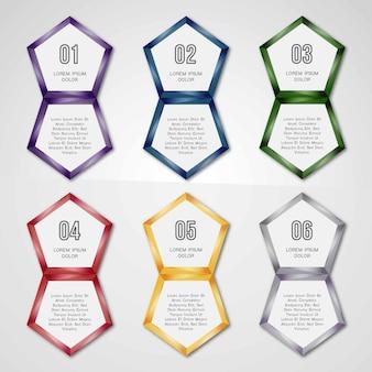Liste des étapes des numéros d'infographie élégante