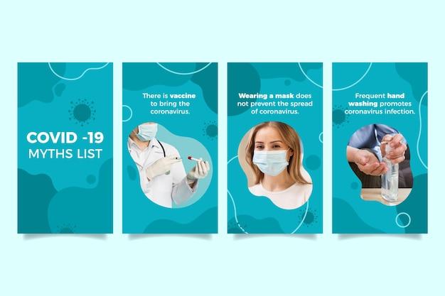 Liste des mythes du coronavirus pour instagram