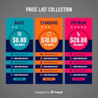 Liste de prix collectio