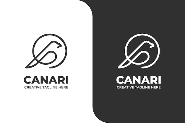 Little bird canari monoline business logo