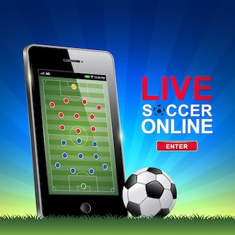 Live football et le football en ligne sur téléphone mobile