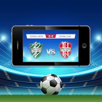 Live football Full HD et le football en ligne sur téléphone mobile