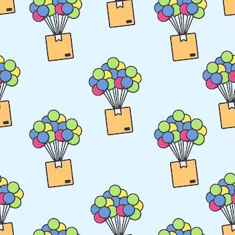 Livraison de boîte d'emballage de l'air par ballon