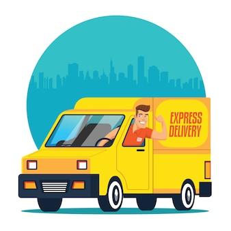 Livraison de camion avec chauffeur