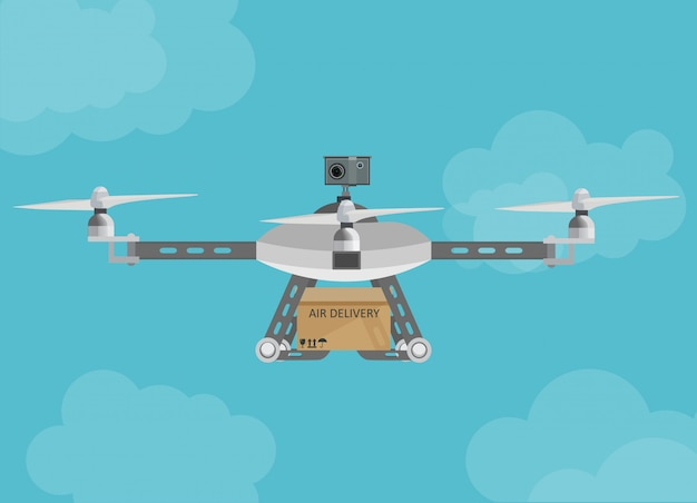 Livraison à distance par drone aérien