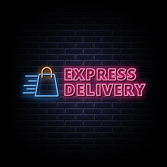 Livraison express logo enseignes au néon