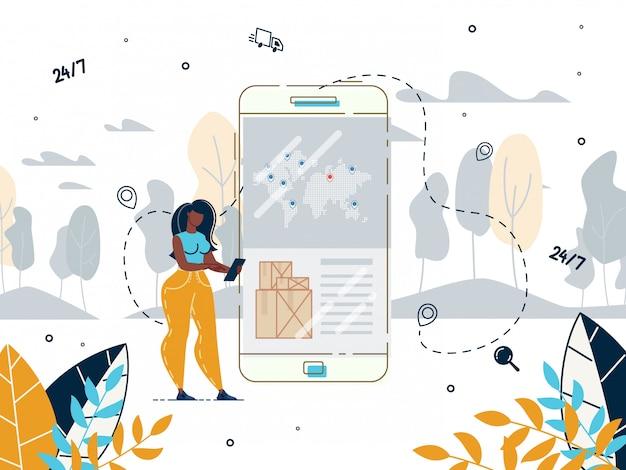 Livraison internationale en service mobile de nuit