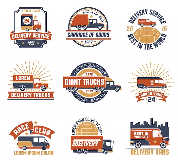 Livraison logo emblem set