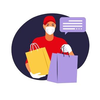 Livraison de marchandises lors de la prévention du coronovirus