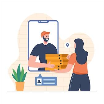 Livraison de nourriture à partir d'un mobile