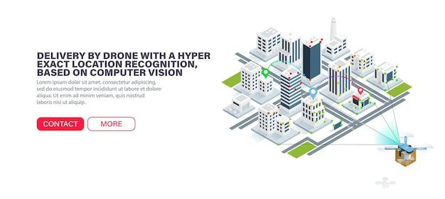 Livraison par drone avec une reconnaissance de localisation hyper précise, basée sur la vision par ordinateur.