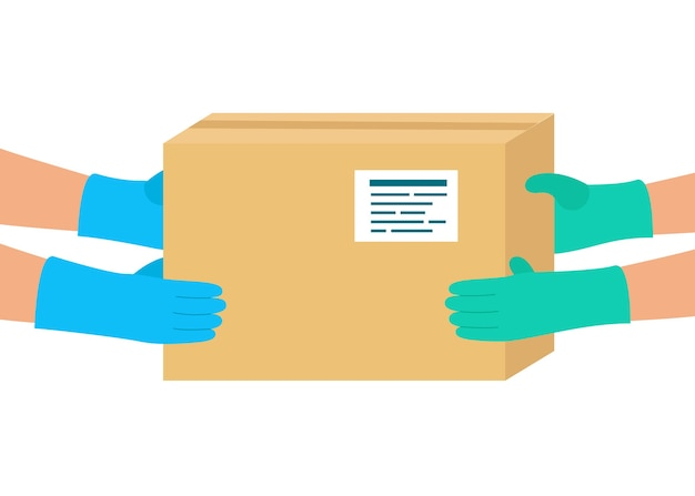 Livraison sécurisée des marchandises à l'acheteur. colis livré par courrier à destination.